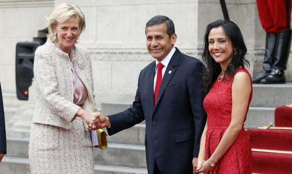 Presidente Humala recibió a princesa Astrid de Bélgica