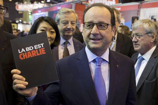 Presidente de Francia, Francois Hollande, visitó la Feria Internacional del Libro en París - Noticias de