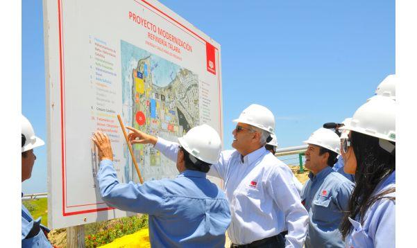 Presidente de Petroperú constata avance de obras de modernización de Refinería Talara - Noticias de german salazar