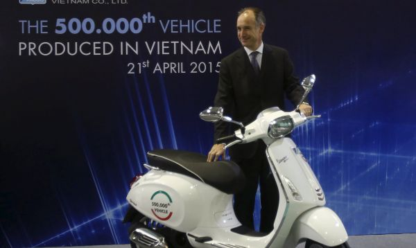 Piaggio presentó la motocicleta Vespa número 500 mil fabricada en Vietnam - Noticias de motocicleta