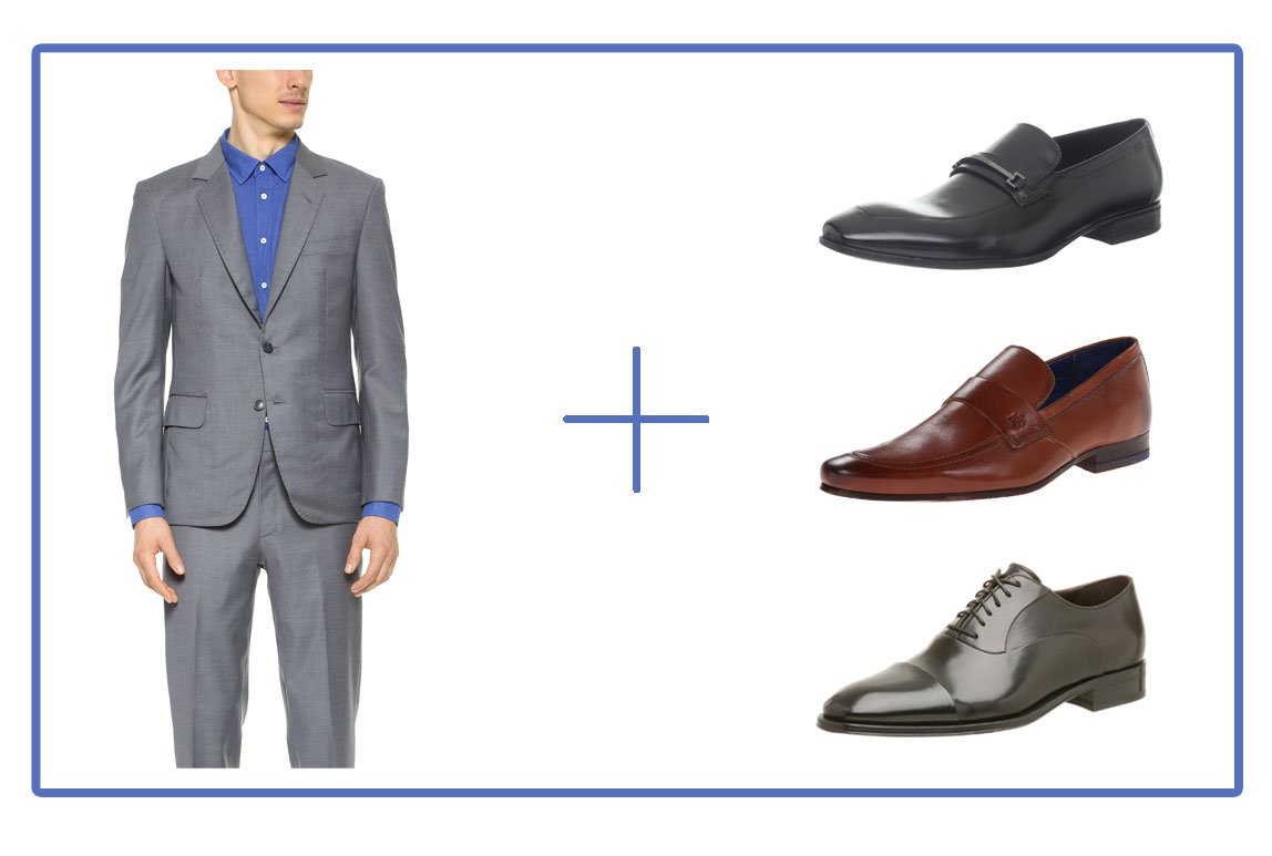 Brown Or Black Shoes With A Navy Suit