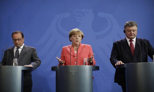 Merkel, Hollande y Poroshenko ven acuerdo de Minsk como único camino - Noticias de petro