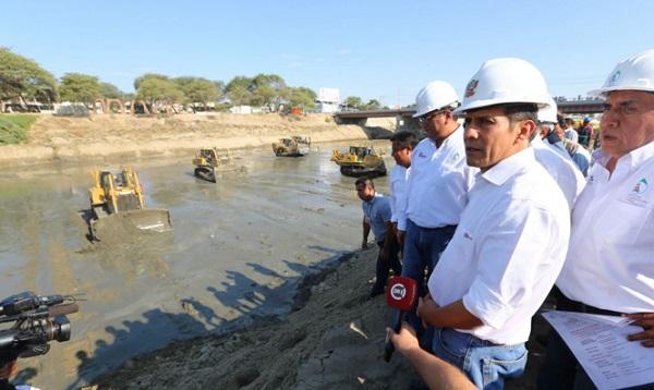 Humala inspeccionó obras de prevención ante El Niño en ríos de región Lima - Noticias de prevención
