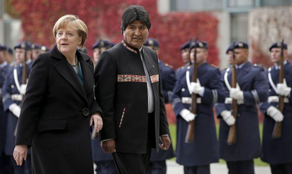 Angela Merkel se reúne con Evo Morales en Alemania - Noticias de david choquehuanca