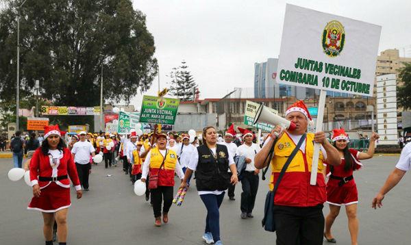 """Policía encabezó """"marcha por la paz"""" en las calles de Lima - Noticias de region policial lima"""
