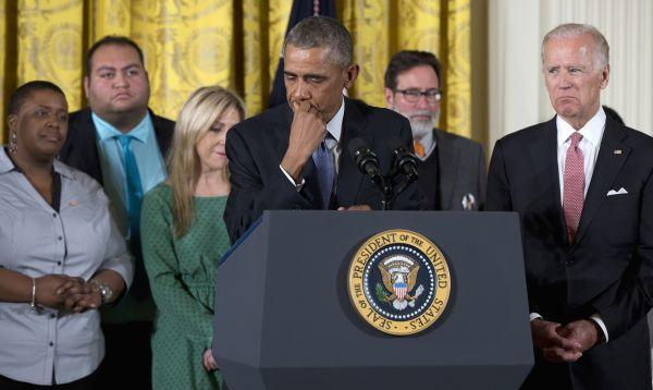 Barack Obama, al borde de las lágrimas, anuncia nuevas reglas para control de armas - Noticias de joe biden
