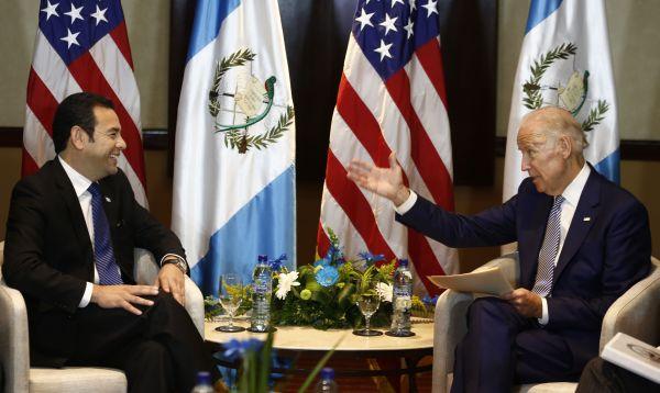 Jimmy Morales asume presidencia de Guatemala - Noticias de joe biden