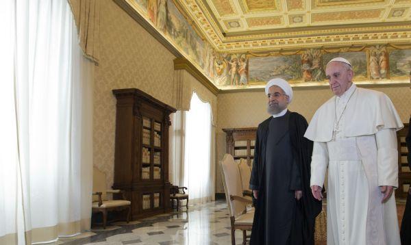 La primera visita de un mandatario iraní a El Vaticano en 17 años, presidente de Irán se reunió con el Papa - Noticias de hassan rouhani