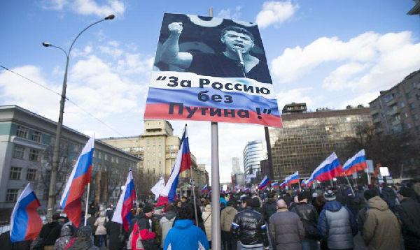 Moscú: miles marchan en primer aniversario de asesinato de opositor - Noticias de boris nemtsov
