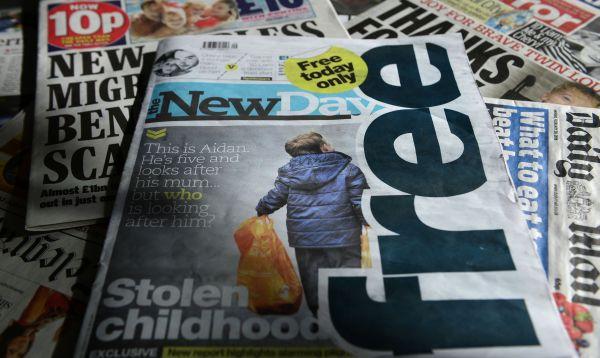 Primera aparición de un diario británico en tres décadas - Noticias de portada