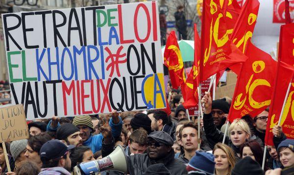 Francia afronta día de protestas por reforma laboral - Noticias de reforma laboral