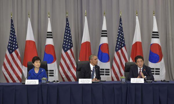 Líderes de EE.UU., Corea y Japón se reúnen en Washington - Noticias de park geun-hye