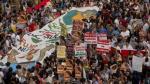 Sin incidentes culmina en la Plaza San Martín marcha contra Keiko Fujimori - Noticias de patricia llosa