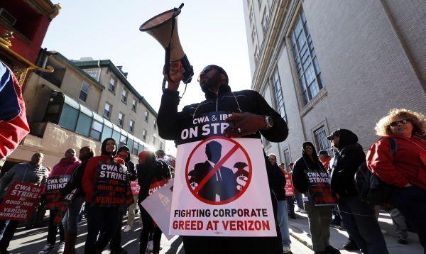 Empleados de Verizon en EE.UU. protestan por falta de contrato - Noticias de huelga de trabajadores