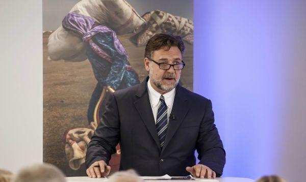 Russell Crowe presenta Índice Global de Esclavitud en Londres - Noticias de russell crowe