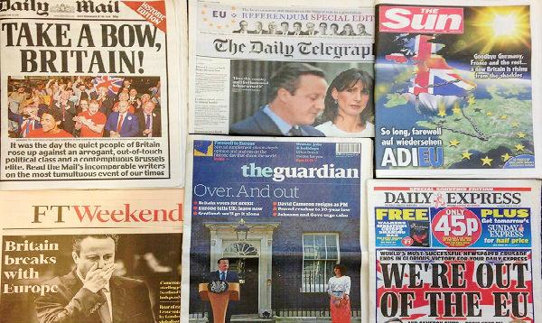 La prensa británica también está dividida respecto al Brexit - Noticias de portada