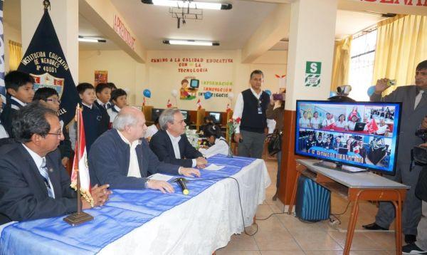 Servicios de telefonía fija e internet de alta velocidad llegan a colegios de Piura - Noticias de pedro cateriano bellido