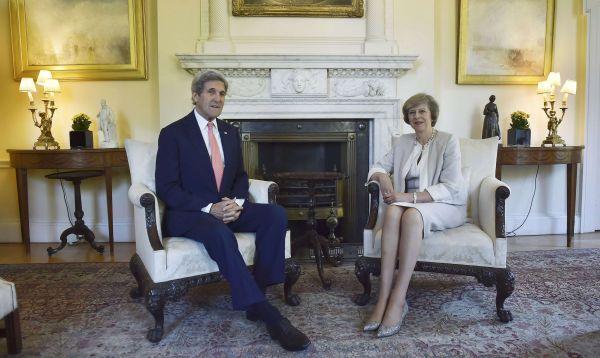 Secretario de Estado de EE.UU. John Kerry visita a primera ministra británica - Noticias de david cameron