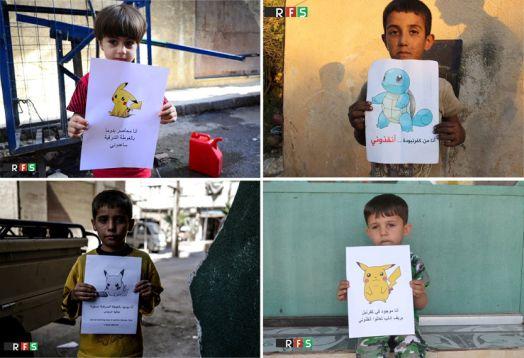 Artistas sirios usan pokémones para denunciar los horrores de la guerra - Noticias de artistas muertos
