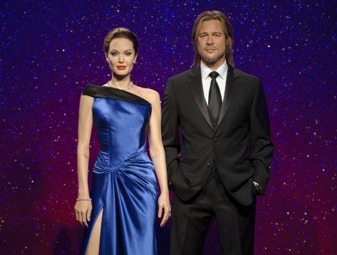 Tras pedido de divorcio, museo de Madame Tussauds separa figuras de cera de Jolie y Pitt - Noticias de morgan freeman