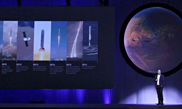 """Musk, director de SpaceX, presentó su plan para establecer la """"ciudad"""" Marte - Noticias de empresarios"""