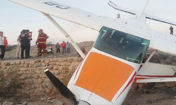 Avioneta aterrizó de emergencia en la Panamericana Sur - Noticias de empresas