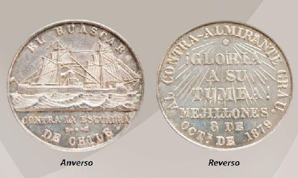 La medalla que se acuñó en homenaje a Miguel Grau - Noticias de banco central de reserva