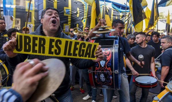 Nueva marcha anti-Uber de taxistas de Buenos Aires - Noticias de protestas en buenos aires