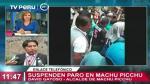 Machu Picchu: Frente de defensa acuerda tregua por 10 días - Noticias de david ley