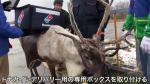 Domino's Pizza entrena a renos como repartidores en Japón - Noticias de domino's